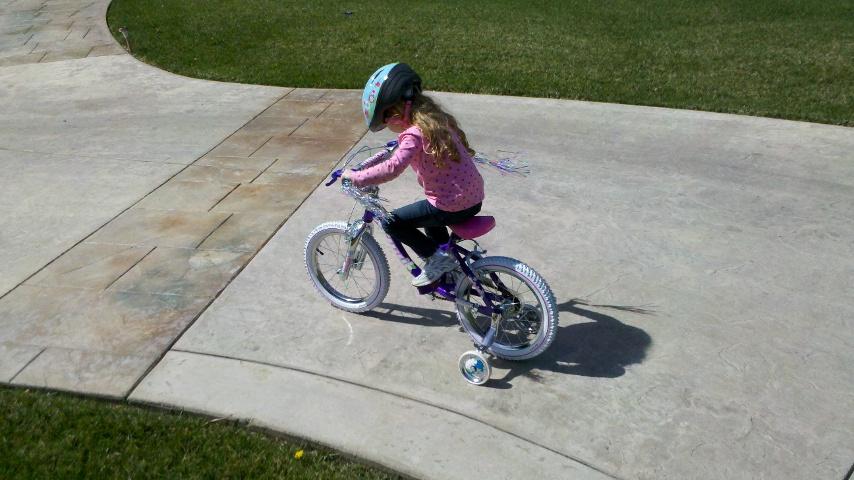Natalie on bike